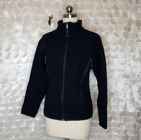 d7011cae8 IBEX Wool Full Zip Dark Navy Jacket USA Made